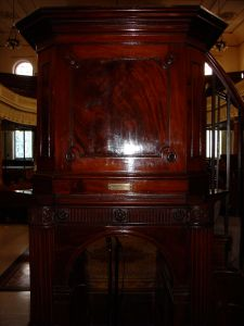 John Wesley's Pulpit - the Steward wouldn't let us stand in it