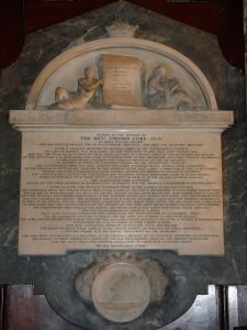 Memorial for Thomas Coke (One of American Methodism's first bishops)