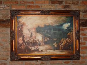 Inside the Red Lion - a print of 'A Brand Plucked from the Burning'