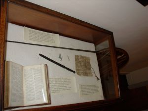 Wesley's Riding Crop and Letter Opener