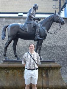 Me and John Wesley on his Circuit Riding Horse
