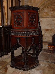The Pulpit from which Wesley Preached