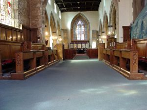 Interior - looking toward the nave